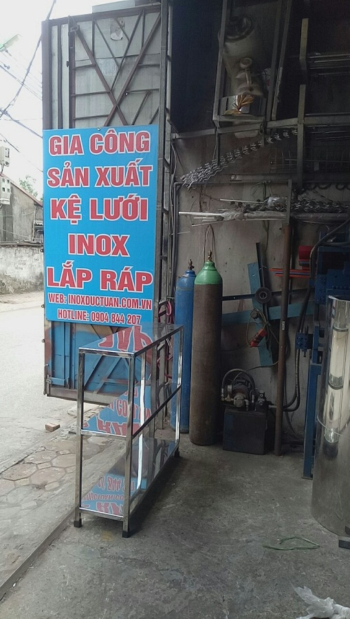 kệ 3 tầng phẳng inox